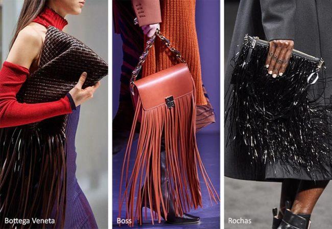 Сумка с длинной бахромой — модные сумки осень-зима 2020-2021