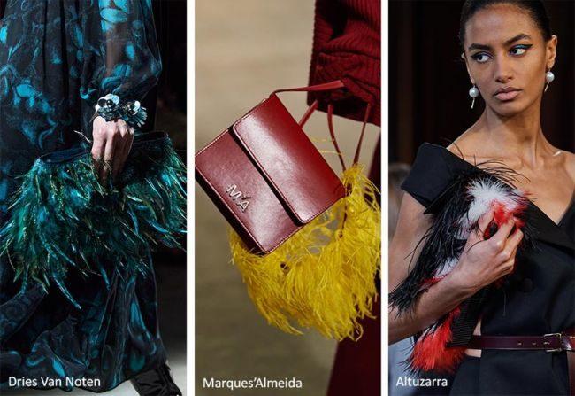 Модные клатчи и сумки с перьями