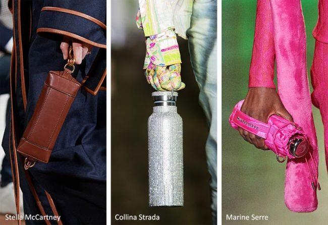Модные женские сумки осень 2020 — мешочки для бутылок