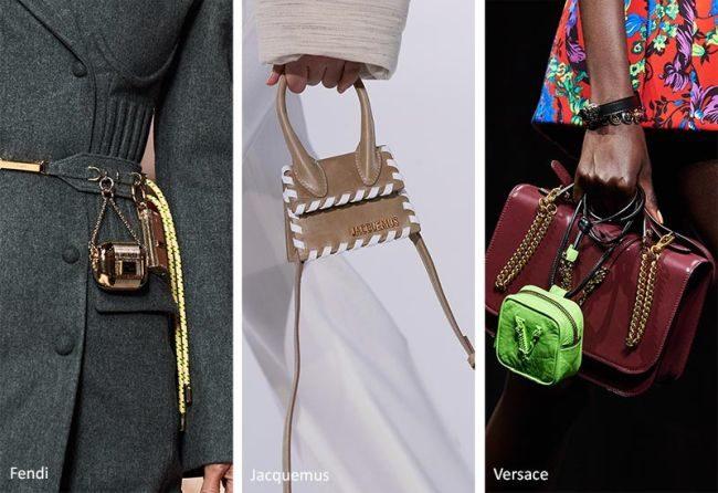 Миниатюрные сумки из коллекции Fendi, Jacquemus, Versace