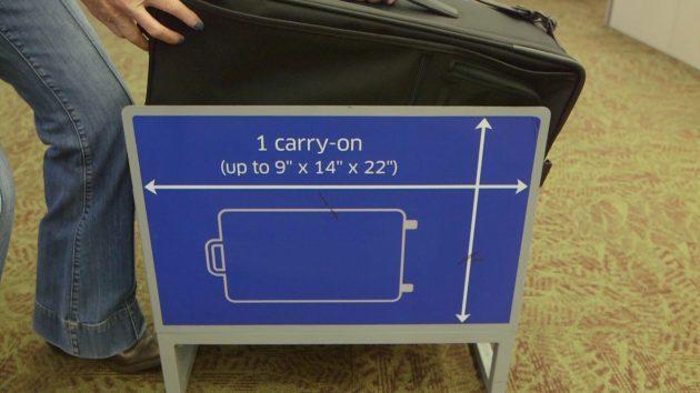 Рамка для проверки размеров ручной клади