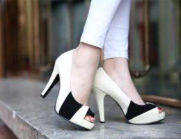 Обувь с открытым носком